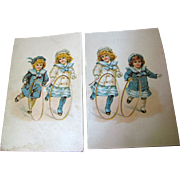 Pair of Advertising Postcards circa 1912 Hill Dental Co. Lancaster PA.‏, No 2.
