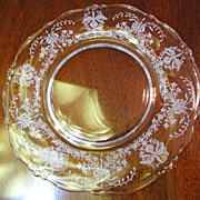 "Heisey Orchid Etched Salad Plate 8 1/4"" (up to 3 available)"