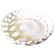 Huge Westmoreland Lace Edged Milk Glass Centerpiece Bowl, No 1.