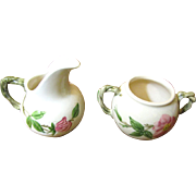 Early Creamer & Sugar Desert Rose Pattern by Franciscan China