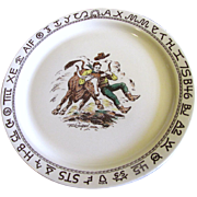 """Westward Ho Rodeo Pattern by Wallace 13"""" Round Platter,  Rare"""