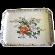 SALE Lovely Vintage Japanese Floral Porcelain Tray