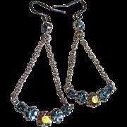 SALE Super Pretty & Delicate Vintage Rhinestone Drop Earrings