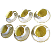 SALE Six Cup & Saucer Sets in Franciscan Hacienda Gold