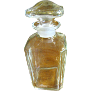 Antique Blown Flint Glass Apothecary Jar Early 1900's w/Ground Lid‏