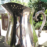 "SALE Lovely Vintage Ornate Silver-plated 9"" Pitcher by Rogers"