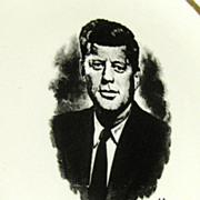 SALE Vintage John F Kennedy Memoriam Plate, Very Good Condition
