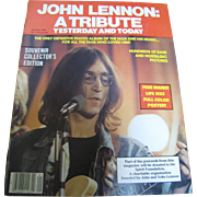 SALE John Lennon: A Tribute Yesterday and Today, December 1980, Zentner Publication‏