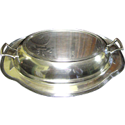 SALE Nice Vintage Covered Silver Plated Convertible Serving Dish
