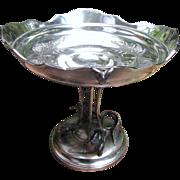 SALE Superb Antique Meriden Quadruple Silver Plated Center Piece Bowl