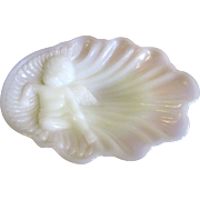 Shabby & Chic Cherub Milk Glass Soap or Trinket Tray by Avon