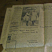 SALE Pages from The State Newspaper Columbia SC August 1937 inc. Photo of Ghandi!