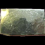 SALE Nice Vintage Silver Plated Cigarette Paper Case