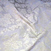 SOLD Elegant 2 1/2 Yds + Bolt End of Fully Woven Taupe Brocade