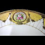 Beautiful Gilt Noritake Green Laurel Backstamp Serving Plate