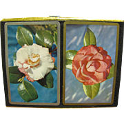 Vintage 606 Congress Playing Cards, Magnolia Flower, Two Deck Boxed Set