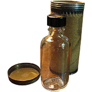 SALE Nice Duraglass Medicine Bottle with Original Shipping Cannister