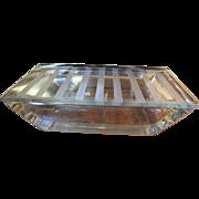 SALE Superb & Elegant Art Deco Chrome & Etched Glass Cigarette Box