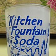 Vintage Kitchen Fountain Soda Glass, G.P.G. Company, Cincinnati Ohio