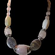 SALE Lovely Estate Cut Stone Necklace, Pretty Colors.