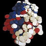 SALE 220 Vintage Dennison Designed Paper Poker Chips, circa 1940s