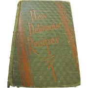 "1929 1st Edition, ""New Delineator Recipes"" cookbook by Butterick Publishing Co.‏"