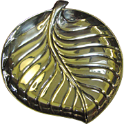 Nice Sillver Plated Leaf Dish by International Silver