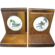 Great Duck Design Hardwood Vintage Bookends