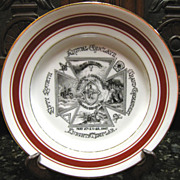 SOLD 1907 Annual 54th Conclave of Knights Templar of PA by Pilgrim Commandery Plate