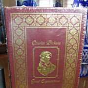 SALE Great Expectations by Charles Dickens, Leather Bound, Unopened, Mint!