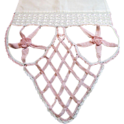 "Unusal Crochet Lace Table Runner, 80"" Beautiful Work!"
