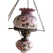 Darling Smaller Scale Gone with the Wind Painted Swag Lamp