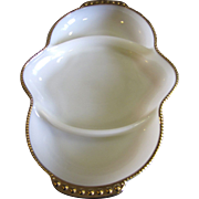 Fire King Milk Glass 3 Part Divided Serving Dish with 22k Gilding (up to 4 available)