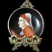 Richard Ginori  Hand Painted Dante Alighieri Portrait Plate