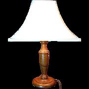 SALE Turned Hardwood Table Lamp, Large, Lovely Figured Wood!