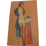 "SALE 1940's, ""Social Security""Pin Up Girl"" Mutoscope Arcade Lithograph Elvgren"