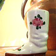 Little Vintage French Faience Boot, Cute!
