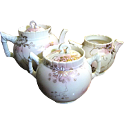 Pretty Victorian Three Piece Tea Set, Sweet Looking!