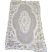 Exquisite & Heavily Worked Antique Lace Runner