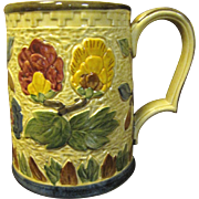 Indian Tree Pottery Tankard by H J Wood of Staffordshire