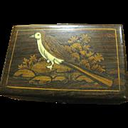 Lovely Indian Hardwood Box with Inlaid Bird