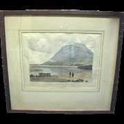 SALE Fine 1816 Engraving of N.Wales Coastline by William Daniell