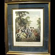 """SALE Original """"La Danse"""" Engraving by Franz Hafstaengl after Jean Baptiste Joseph Pater"""