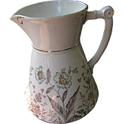 SALE Beautiful Victorian Wash Pitcher with Floral Decoration