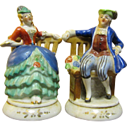 SALE Pair Occupied Japan Colonial Style Seated Figurines