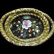 SALE Pine Needle Sea Shell Art Vanity Decorative Tray No 2