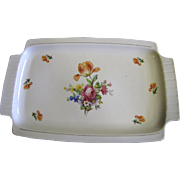 SALE Large German Porcelain Floral Tray, Pretty!