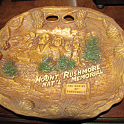 "Souvenir ""Mount Rushmore National Monument"" Relief Collector Plate"