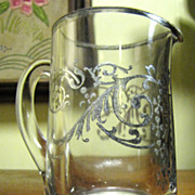Sterling Overlay Small Glass Creamer