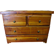1960's Pine Apprentice Miniature Chest of Drawers